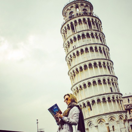 The leaning tower in Pisa, Italy