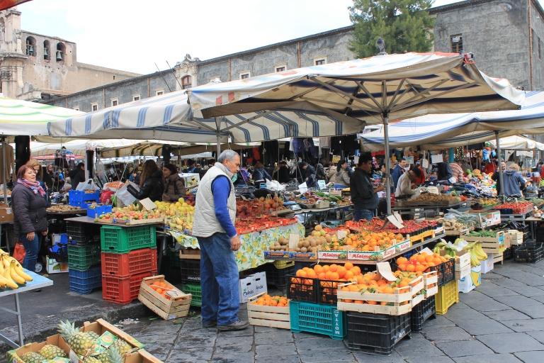Saturday food market, Catania