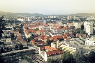 The view for the Ljubljana castle