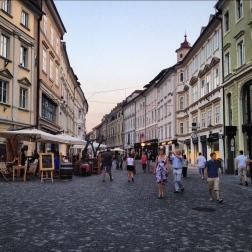 Ljubljana, lively streets