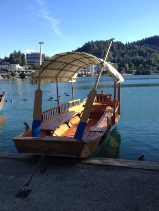 Pletna, traditional boat @ Bled lake