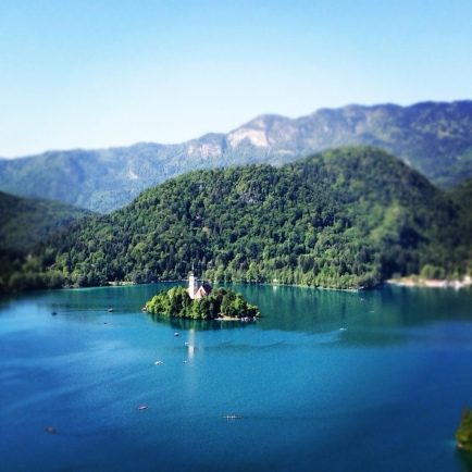 Bled, the only Slovenian island