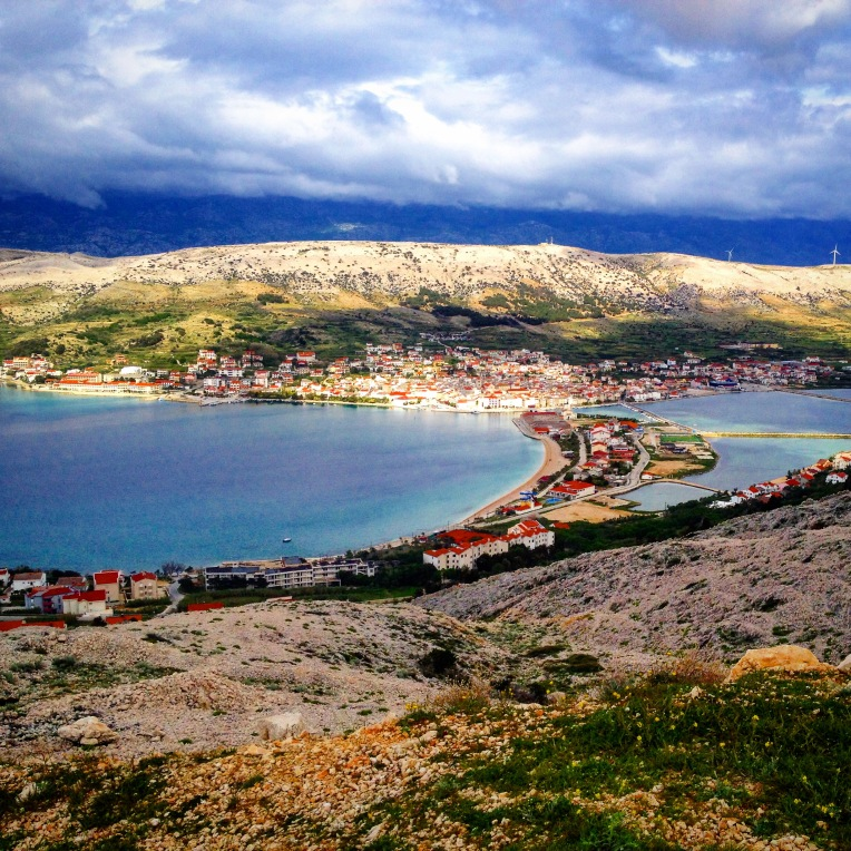 The view to the town of Pag