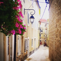 Lovely streets in the old town of Pag