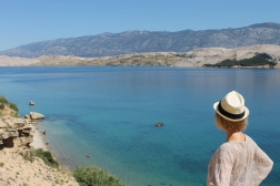 Sv. Vid beach with a view to the Pag canal
